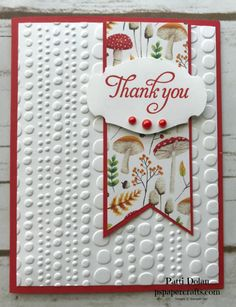 Painted Seasons Thank You — P. Paper Crafts - DIY Handmade Thank You card using the Painted Seasons Designer Series Paper and the Dot To Dot Embo - Handmade Thank You Cards, Wedding Thank You Cards, Greeting Cards Handmade, Simple Handmade Cards, Paper Cards, Diy Cards, Karten Diy, Thanks Card, Embossed Cards