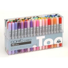The Copic Ciao 72 Colour Pen Set A from Copic. We stock the Copic Ciao 72 Colour Pen Set A and many other great Copic products, Buy online now from our secure site. Copic Pens, Copics, Copic Markers, Sketch Markers, Stationary Supplies, Stationary School, Art Supplies, School Suplies, Stabilo Boss