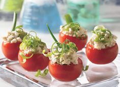 Made these chicken salad stuffed tomatoes for a Christmas appetizer last year. SO GOOD!