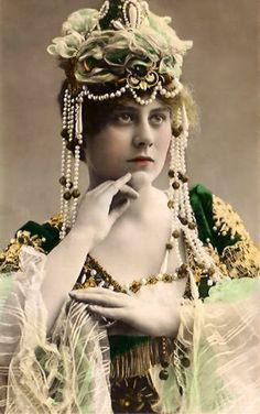 ornate headdress and costume