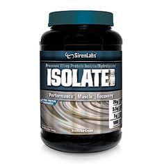 Premium Whey Protein Isolate/Hydrolysate*<ul><li>Performance*</li><li>Muscle*</li><li>Recovery*</li></ul>20g Protein<br>5.5g Glutamine<br>5g Instantized BCAAs<br>100 Calories<br><br><b>Performance*</b><br>Siren Labs' <b>Isolate Protein</b> is a precise ratio and superior blend of instantized whey protein isolate, whey protein hydrolysate, L-glutamine and instantized BCAAs, resulting in a premium source of protein for maximum performance.*<br>PURE PROTEIN GUARANTEE: Siren Labs' <b>Isolate…