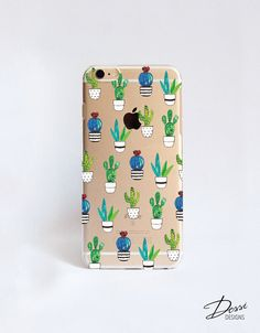 Transparent Cactus Cell Phone affaire Design pour iPhone, Samsung, Sony, HTC, Nokia, LG et BlackBerry cas