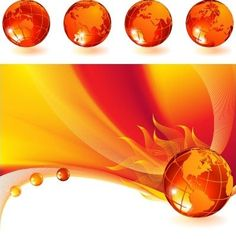 Burning globe abstract free vector background @freebievectors