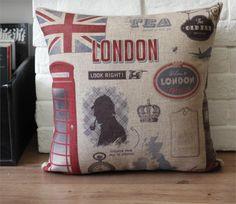 Aliexpress.com: Comprar Inglaterra londres Holmes Sherlock almohada almohada cojín, cojín del sofá con núcleo oficina de estilos sofá cojines fiable proveedores en Fox Scream