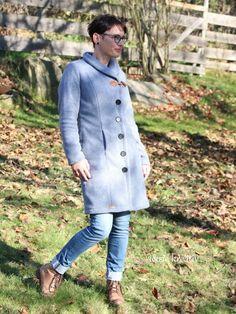 Mantel Natalja von Schnittmusterlounge aus Kuschelfleece genäht..... ♥ Lounge, Mantel, Chef Jackets, Shirt Dress, Shirts, Dresses, Style, Fashion, Sewing Patterns
