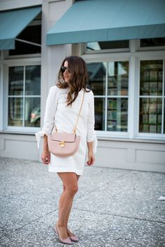 tibia dress and Chloe Drew bag from Nordstrom