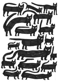 A big collection of funny cat art and illustration for animal art lovers. I wish cats really walked around like this in real life. Animal Art, Illustration, Drawings, Cats Illustration, Pattern Illustration, Art, Animal Illustration, Cat Drawing, Illustration Artists