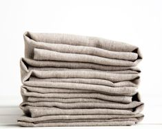 Natural Napkins set of 6 - Linen cloth napkins for wedding party - Ready to ship