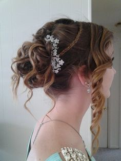 Formal updo--prom love the pins in the back!!