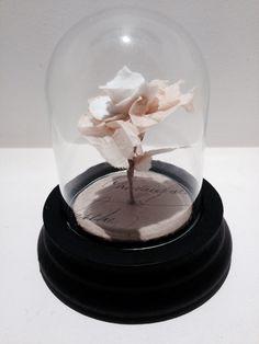 Tiny Paper and porcelain rose - Caroline Lingwood