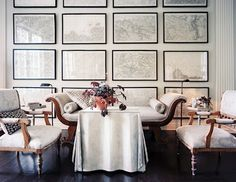 lush interiors: vintage map wallpaper