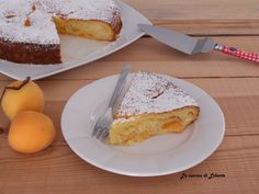 Torta con albicocche fresche senza burro | La cucina di Liberte