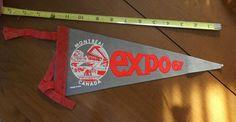 Expo 67 Felt Pennant - Nice Condition