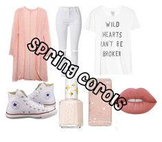 """""""spring"""" by anarosa23604 ❤ liked on Polyvore featuring Relaxfeel, Zoe Karssen, Sonix, Converse, Essie and Lime Crime"""