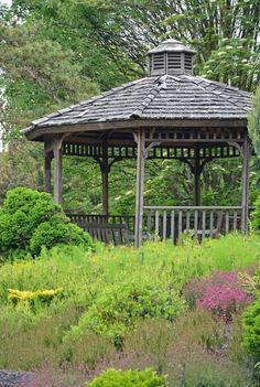 Chronicles of a Love Affair with Nature Wooden Gazebo, Beautiful Gardens, Outdoor Structures, Adventure, World, Affair, Nature, Flowers, Stage