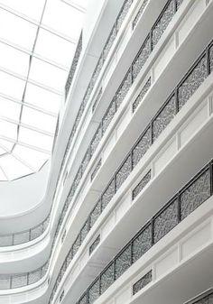 Open hallways at Waldorf Astoria Dubai Palm Jumeirah.