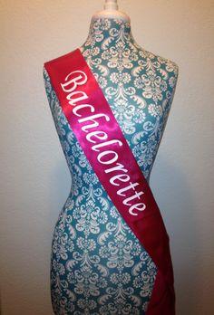 Custom Bachelorette sash - Future Mrs sash - Bride to Be sash - Hen Night sash- Bridal Shower Sash- Bachelorette Sash by SassySashSashes on Etsy