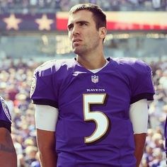 Joe Flacco's wife gave birth to their 2nd son today during warm ups.  9/15/13