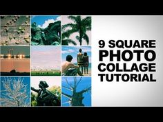 Photoshop Cs5 Tutorial: 9 Square Photo Collage - YouTube