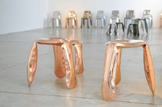 Limited Edition chairs-Plopp Copper by Oscar Zieta http://designlimitededition.com/limited-edition-chairs-plopp-copper-by-oscar-zieta/