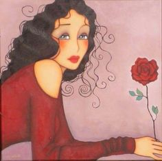 woman with rose Corinne Reignier