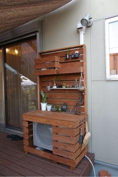 完成!室外機カバーをDIY② の画像|garage life & DIY 〜バイクガレージのある暮らし〜