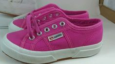 New SUPERGA JCOT claasic FUXIA 11M Pink White Canvas Lace up New with box #SUPERGA #Athletic