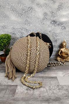 Τσαντάκι χειροποίητο πλεκτό 'Artemis' Μπεζ Womens Purses, Straw Bag, Bags, Fashion, Handbags, Moda, Dime Bags, Fasion, Totes