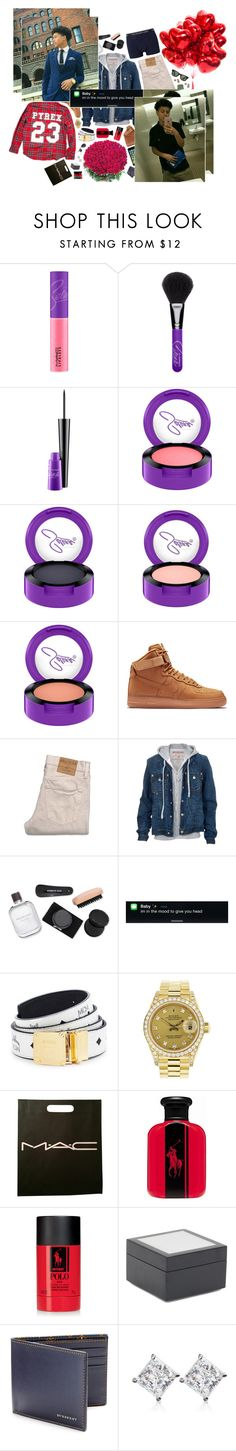 """""""- Ariel )"""" by selfxprovoked ❤ liked on Polyvore featuring MAC Cosmetics, NIKE, Hollister Co., True Religion, Kenneth Cole, Polo Ralph Lauren, MCM, Rolex, Ralph Lauren and Mitchell Gold + Bob Williams"""