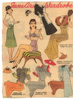 Jane Arden Paper Dolls (Also see my board: Paper Dolls-Comics/Newspapers)
