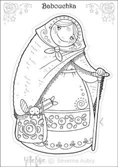 babouchka - for a Russia theme Colouring Pages, Coloring Pages For Kids, Coloring Books, Matryoshka Doll, Kokeshi Dolls, Christmas Colors, Christmas Art, Xmas, Funny Calendars