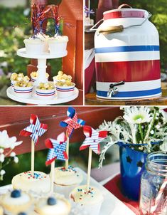 Create beautiful patriotic July 4th pinwheel toppers with the Cricut Craft Room Exclusive 3D Pinwheels!
