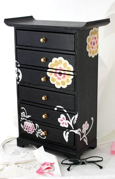 Flower and Butterfly 6-Tier Hanji Drawers - papertree