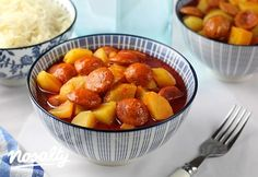 Tökéletes paprikás krumpli   Nosalty Paella, Fruit Salad, Gluten Free Recipes, Free Food, Pork, Food And Drink, Chips, Meals, Cooking