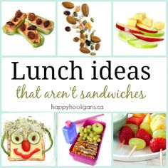 Kid lunch ideas that are not sandwiches - Happy Hooligans