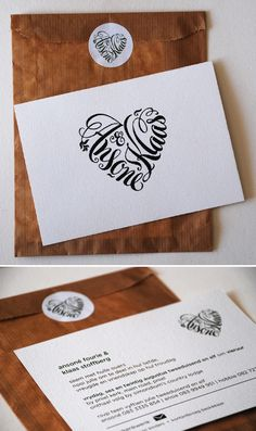 Beautiful Calligraphy - Blog - Seven Swans Wedding Stationery.  Have considered getting a tattoo with my kids names making a heart...here it is!