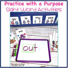 Ideas for Sight Word Activities that are fun, easy and effective during guided reading small groups!  Great for teaching hands on, using games, magnetic letters, flash cards printables, worksheet alternatives, for any list.  Perfect for struggling readers too!  #phonics #sightwords #guidedreading #sightwordactivities #classroom #elementary #conversationsinliteracy #kindergarten, #firstgrade #secondgrade #thirdgrade kindergarten, first grade 2nd grade, 3rd grade