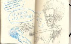 Apuntes de Pablito Miró en la libreta de idems