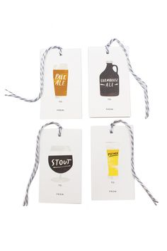 Beer Gift Tags for the hop lover in your life.