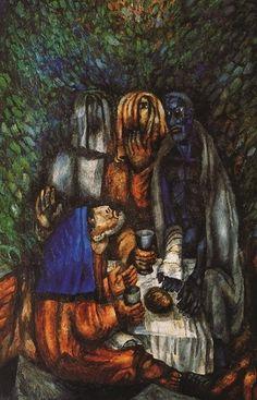 """(Gn 18.1 a 5)  Y el Señor se le apareció en el encinar de Mamre, estando él sentado all`ingresso de nell`ora tienda en el calor del día. Miró hacia arriba y vio a tres hombres que estaban cerca de él. Al verlos, corrió a su encuentro desde la puerta de la tienda, y se inclinó a la tierra, diciendo:. """"Mi señor, si he hallado gracia a tus ojos, no pases de tu siervo usted dejó un poco de agua , lavarse los pies y descansen a l`albero.Permettete traeré un bocado de pan, y refrescarse, y…"""