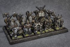 These dwarf longbeards have been sitting partially painted in my glass cabinet for too long, so last week I decided to finish them off. Warhammer Ogre, Warhammer Dwarfs, Warhammer Models, Warhammer Fantasy, High Elf, Tabletop Games, Warriors, Battle, Clock