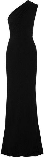 RALPH LAUREN COLLECTION Crepe One-shoulder Gown