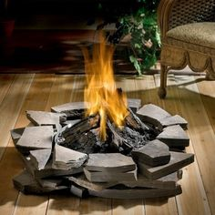 propane fire pits with stone base | Fire Sense 60921 Stone Look Column Outdoor Patio Propane Fire Pit NEW