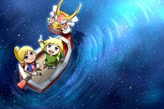 The Legend of Zelda: The Wind Waker | Toon Link, Tetra, and The King of Red Lions / 「天の川」/「わさび」のイラスト [pixiv]