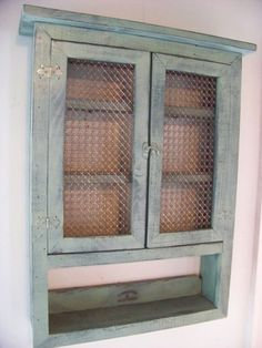 Low cabinet Spice Racks - Spice rack, medicine cabinet, or just a place for your stuff Kitchen Display Cabinet, Cabinet Spice Rack, Low Cabinet, Display Shelves, Spice Racks, Spice Storage, Primitive Furniture, Diy Furniture, Repurposed Furniture