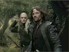 "Legolas and Aragorn - they look like they're taking a selfie. ""Hey just hanging out killing some Orcs. Normal day really."""
