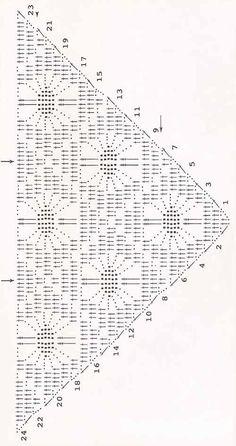 Prayer Shawl Crochet Pattern, Prayer Shawl Patterns, Crochet Shawl Diagram, Crochet Prayer Shawls, Crochet Wrap Pattern, Crochet Shawls And Wraps, Crochet Chart, Filet Crochet, Crochet Scarves
