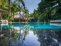Villa Yoga | 7 bedrooms with 5, 6, 7 rental option | Seminyak, Bali #swimmingpool #tropical #garden #modern #villa #exterior #bali #holiday #family #friends #retreat