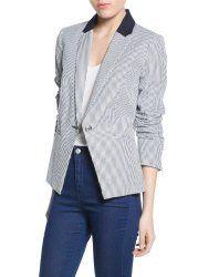 Mango Women's Seersucker Suit Blazer