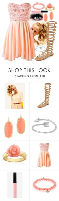 """Summer and sand"" by hcs72902 ❤ liked on Polyvore featuring Hershesons, Stuart Weitzman, Kendra Scott, Ross-Simons, Express, Sydney Evan, women's clothing, women, female and woman"